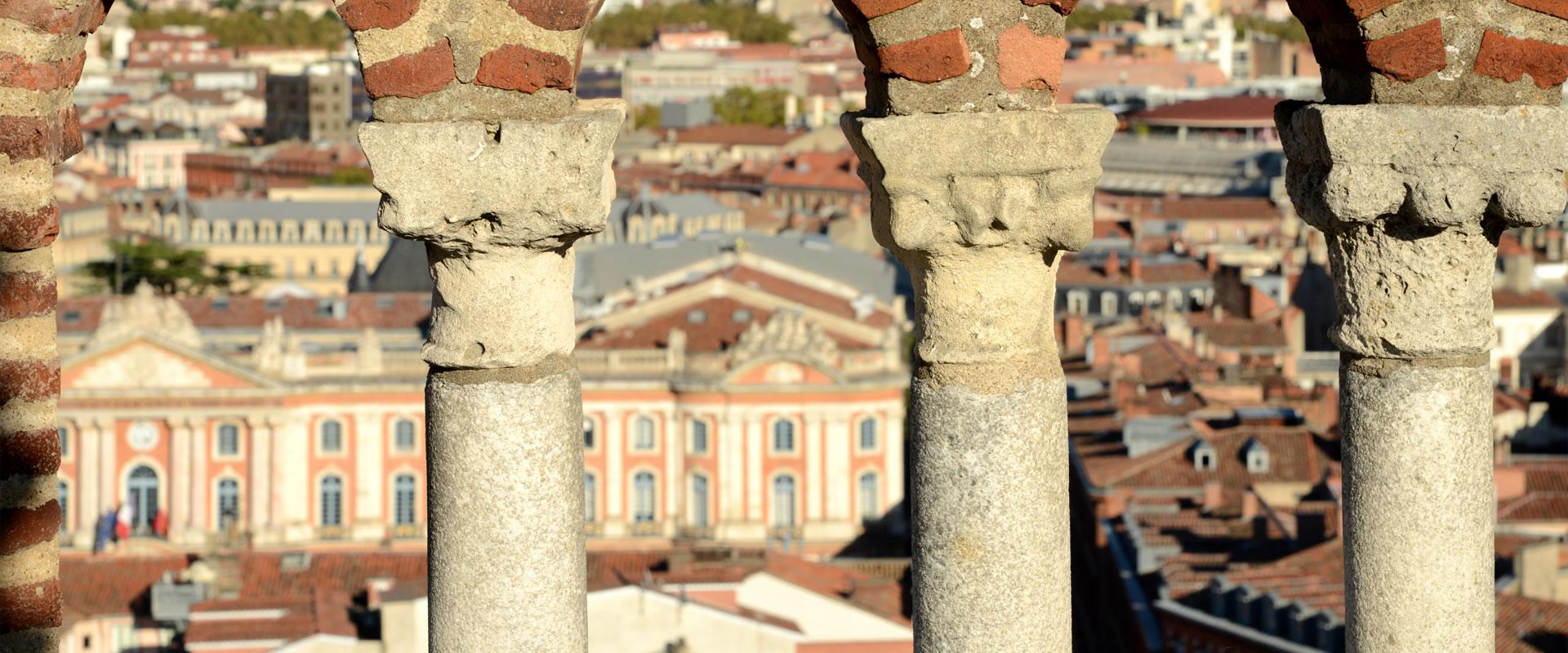 Vue du Capitole depuis le clocher des Jacobins