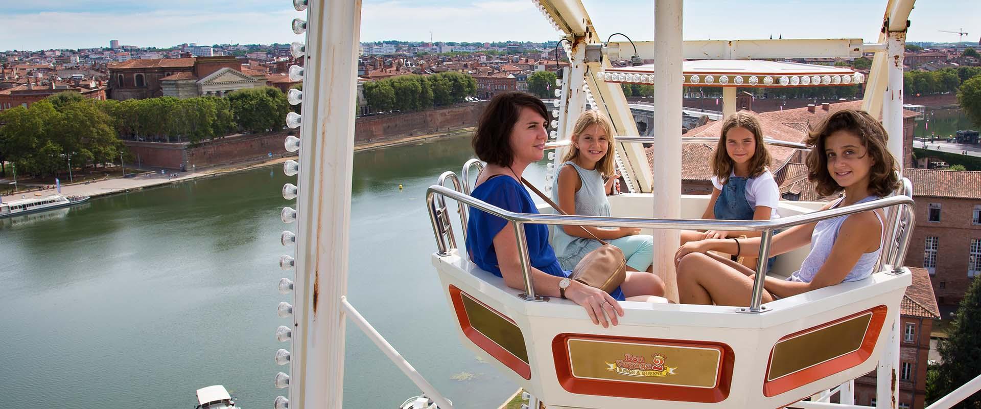 Visiter Toulouse en famille, la grande roue