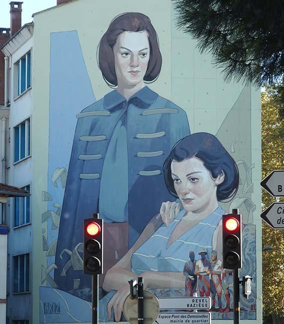 Toulouse, street art Pont des Demoiselles