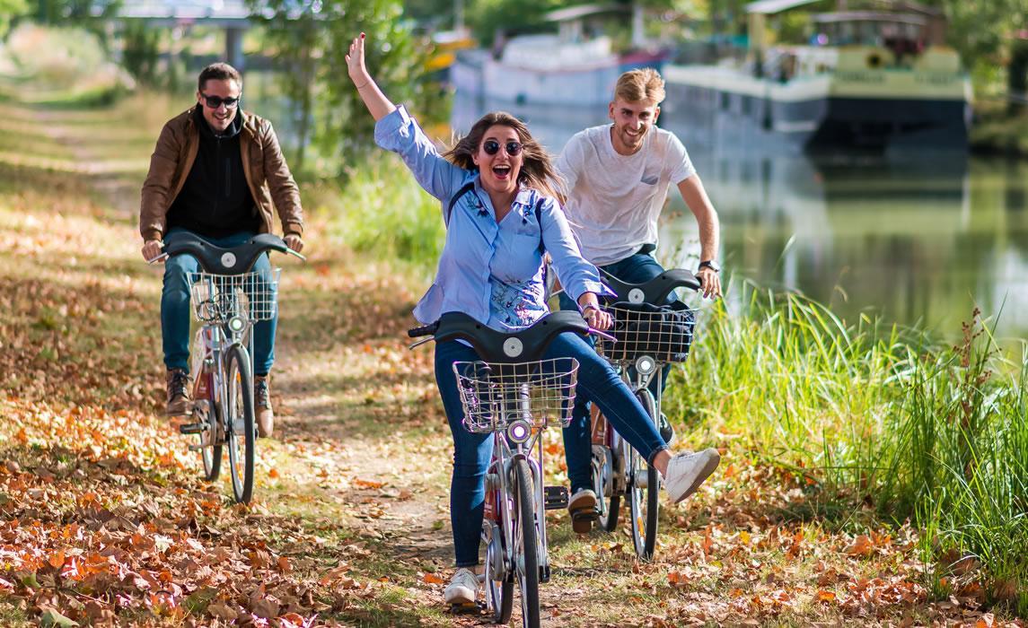 Le Canal du midi à vélo à Toulouse