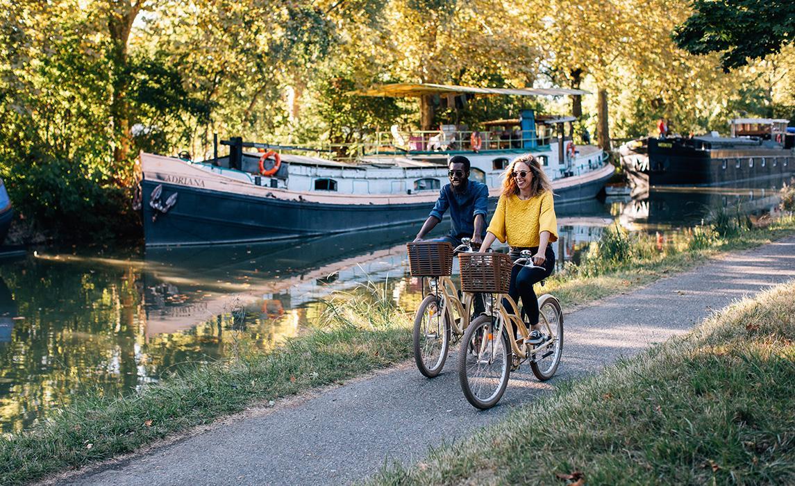 Le canal du Midi à vélo - visitez Toulouse