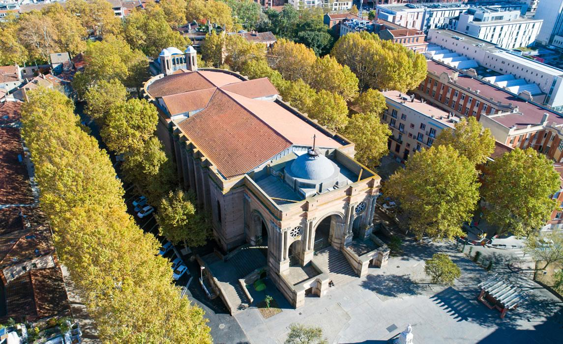 La basilique Saint-Aubin à Toulouse