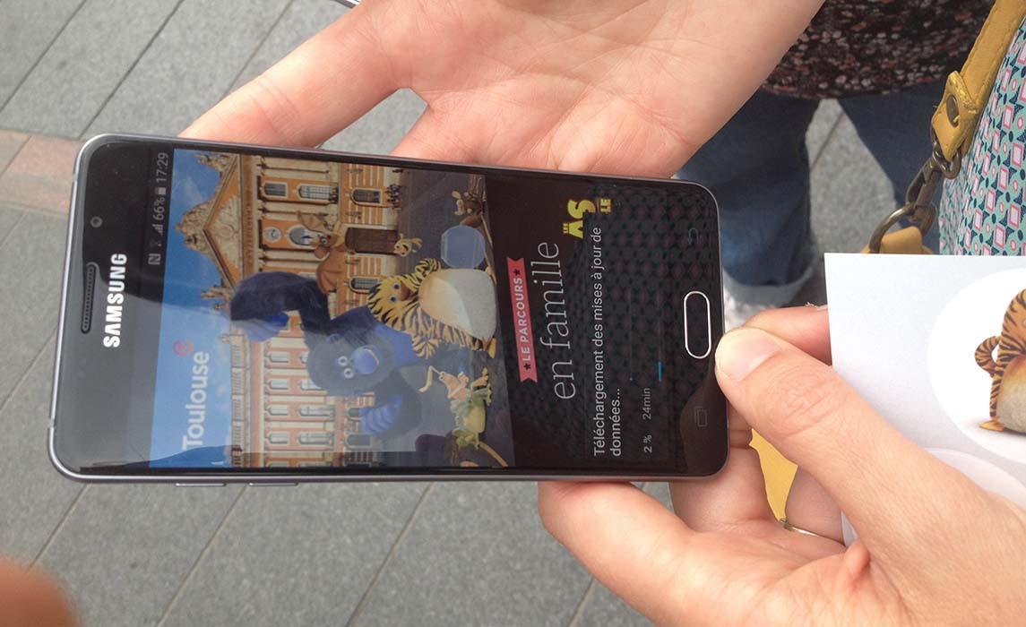 Visiter Toulouse en jouant avec votre smartphone