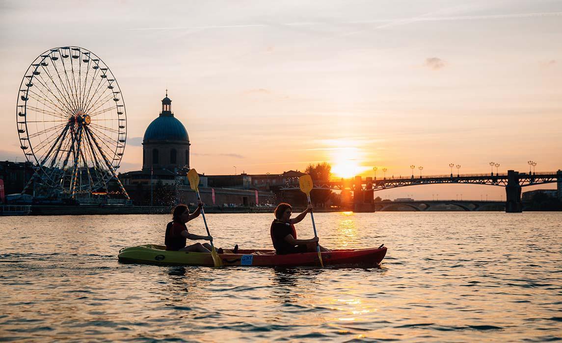 Toulouse, kayak sur la Garonne