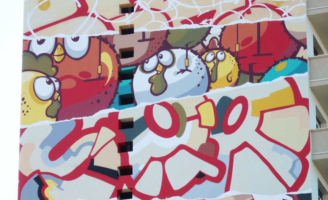 Visiter Toulouse, graff de la Truskool à Arnaud Bernard
