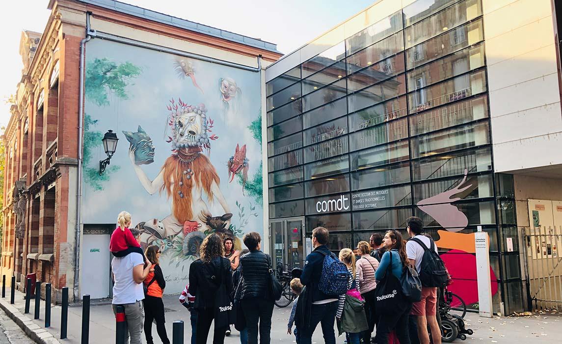 Visiter Toulouse, oeuvre de Miss Van