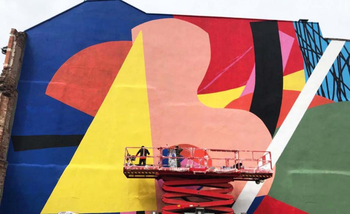 Visiter Toulouse, oeuvre street art de Hense