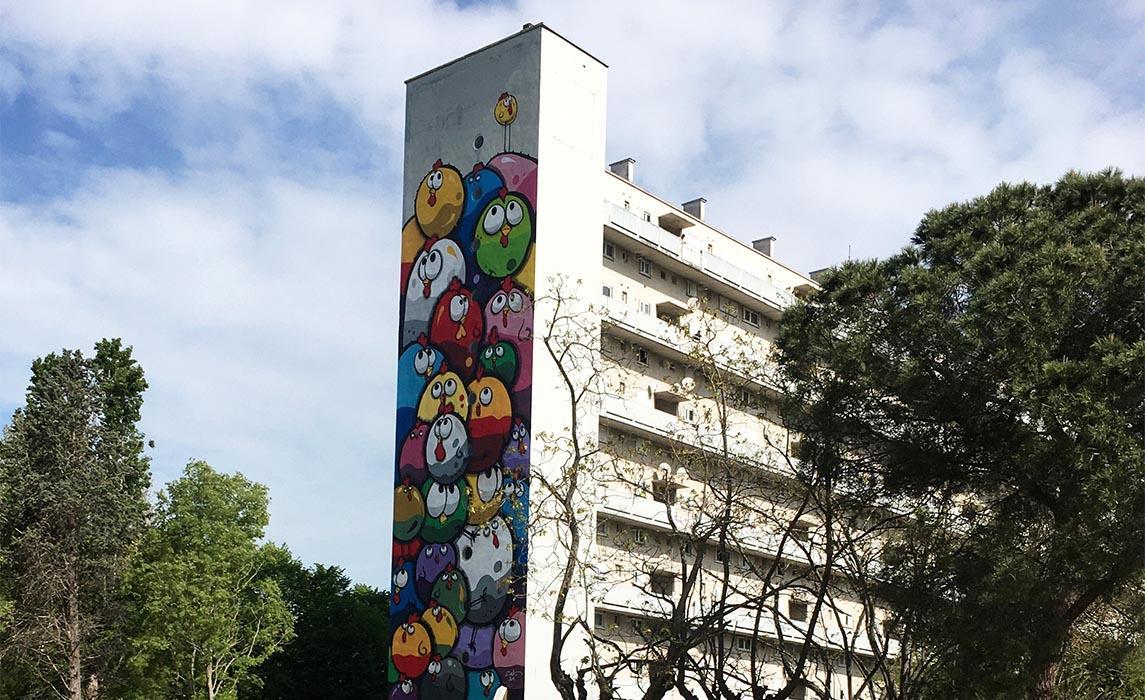 Visiter Toulouse, le street art oeuvre de CEET