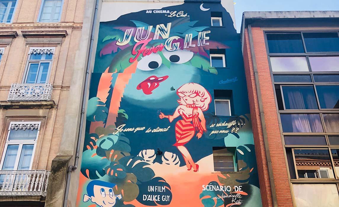 Visiter Toulouse, graff de Mademoiselle Kat