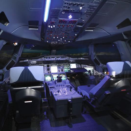Musée Aeroscopia A380 - cockpit