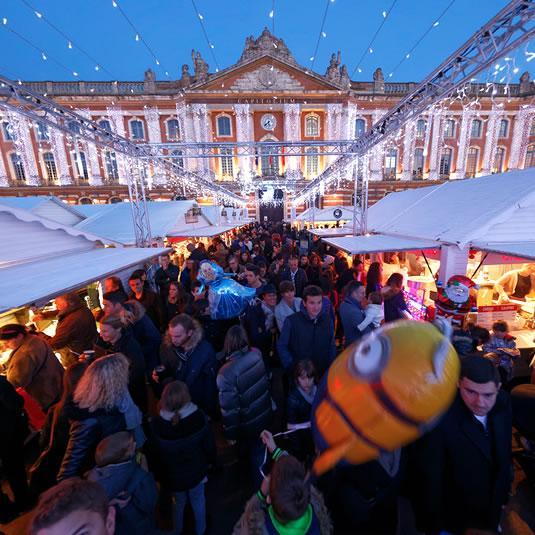 Ambiance Noël au marché place du Capitole