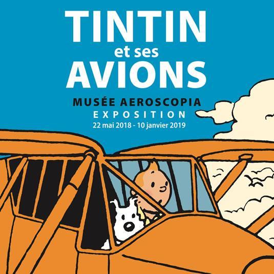 Exposition Tintin et ses avions