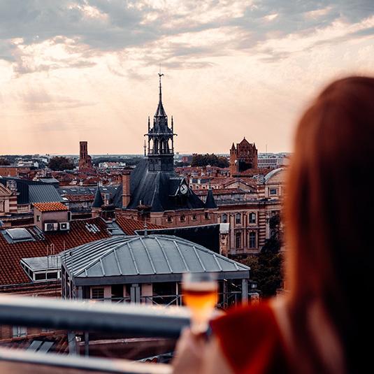 Vue depuis Ma Biche sur le Toit à Toulouse