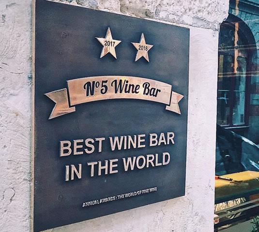 Meilleur bar à vin du monde