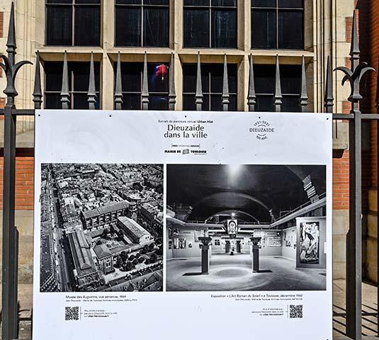 Exposition Dieuzaide, parcours dans Toulouse