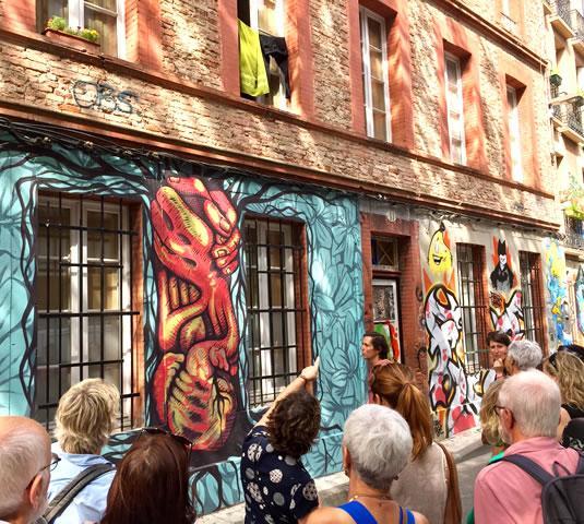 La visite du Graff tour