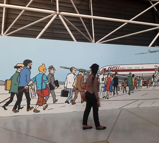 Exposition Tintin et ses avions