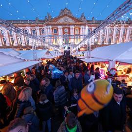 Le marché de Noël place du Capitole à Toulouse