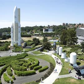 Le parc de la Cité de l'espace