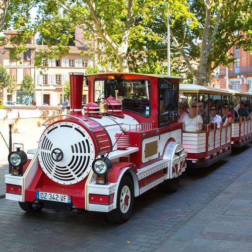 Train touristique à Toulouse