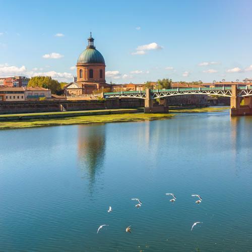 Venir à Toulouse - les bords de Garonne