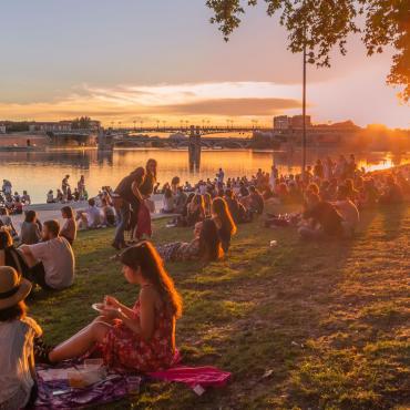 Les bords de Garonne à Toulouse