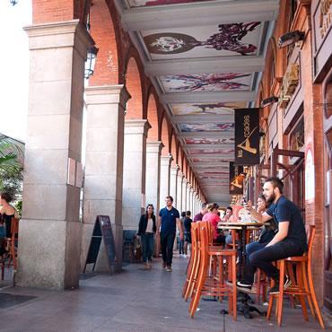 Les arcades place du Capitole